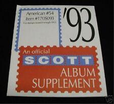 SCOTT AMERICAN  #54 1993 SUPPLEMENT 170S093 NEW
