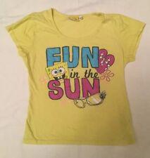 Bambini Ragazze Sponge Bob Square Pants giallo T-Shirt Fun in the Sun 12-13
