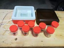Ancienne yaourtiere vintage orange SEB + 8 pots