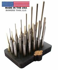 Grace USA 27pc Gunsmith Steel & Brass Roll Pin Spring Punch Set Gun Care Holder