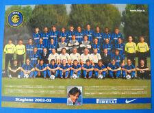 CARTOLINA UFFICIALE INTER SQUADRA 2002/03 - cm.17x24