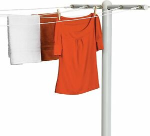 Honey-Can-Do DRY-01452 5-Line T-Post Outdoor Line