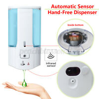 450mL Wall Mounted Automatic Infrared Sensor Hand-Free Soap Dispenser Bathroom