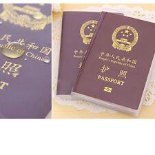Transparente pasaporte cubierta titular caso Banco ID tarjeta protector viaje