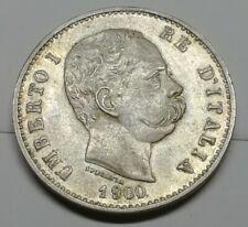 Moneta 1 lira 1900 Argento Regno d'Italia Re Umberto bella conservazione