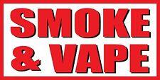 2'x4' Smoke & Vape Vinyl Banner Sign - ecig, shop, juice, cigarettes - White