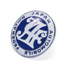 Blue JAF Logo Japan Automobile Federation JDM Car Grille Emblem Badge