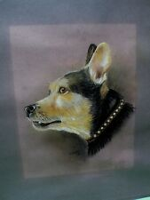 Early listed Canadian Artist Kathryn Amisson original painting of a cute canine.