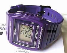 NEW Latest CASIO W-215H-6AV DIGITAL SPORTS Watch 50M Alarm Purple Resin Strap