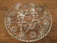 Vintage Star of David Glass serving plate