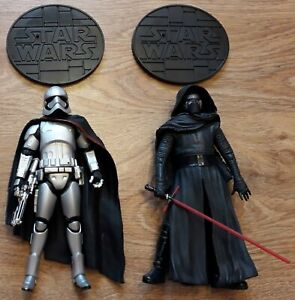 Disney Star Wars Elite Series Die Cast Figure bundle Kylo Ren & Captain Phasma