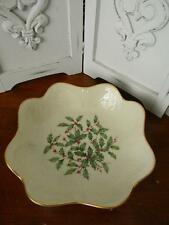 """Lovely Lenox Scalloped Holly Bowl~""""Special Edition"""" Mint"""