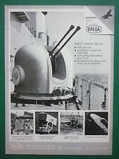 3/1978 PUB BREDA BRESCIA BITUBE COMPACT 40 L 70 CANON NAVAL FUSIL DE CHASSE AD