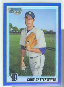 Cody Satterwhite Detroit 2010 Bowman Blue Refractor
