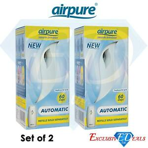 2 x Airpure Automatic Air Freshener Spray Machine 60 Day Freshness Home / Office