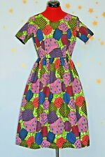vintage African dice print very cute dress