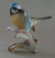 HUTSCHENREUTHER GRANGET German Blue TITMOUSE BIRD Meise Vogel Porcelain FIGURINE