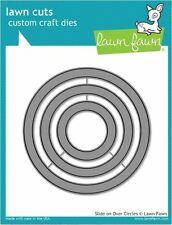 Lawn Fawn Lawn Cuts Cutting Die ~ SLIDE ON OVER CIRCLES  Motion Cards  ~LF1382