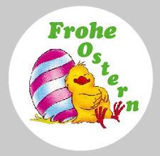 Oster-Aufkleber Rund 100Stk. Sticker Frohe Ostern  Ø 30mm PVC-Folie Set nr6