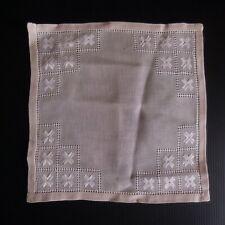 Napperon carré rose coton textile ameublement art déco fait main Italie N5095