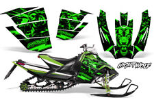 Arctic Cat Sno Pro Race Sled Wrap Snowmobile Decal Graphic Kit NIGHTWOLF GREEN