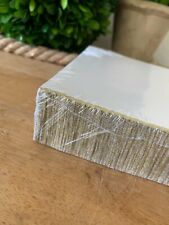 136 White Cards w/ Gold Shimmery on the edged bottom Stationary/ Invitations