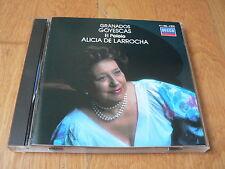 Alicia de Larrocha - Granados : Goyescas -  CD Decca West Germany