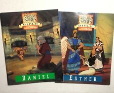 Lot of 2 The Animated Stories From the Bible Activity Book Esther Daniel 1993
