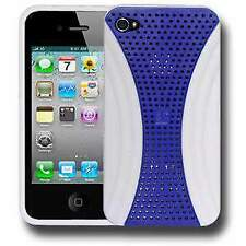 Perforated Retro Sports Case - Blue/ White for iPhone 4