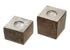 Casablanca Teelichthalter Dakar Alu braun 2er Set Leuchter Kerzenhalter 53497