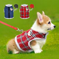 Hundegeschirr Katzengeschirr mit Leine Warm Gepolstert Haustier Weste Kleidung