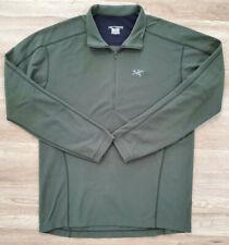 Arc'teryx Mens Sweater Size Large Delta LT Zip Green
