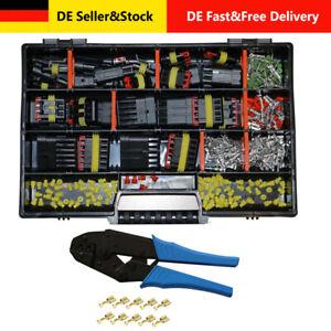 AMP Superseal Starter Set Stecker 1-6- pol KFZ LKW Motorrad Crimpzange für FSH