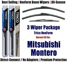 3pk Wipers Front/Rear - NeoForm - fit 2002-2006 Mitsubishi Montero 16200x2/30160
