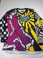 Vintage FOX Racing Inc Long Sleeve Jersey Men's Size 2XL XXL Yellow Purple
