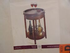 Wine, Cheese, Cocktail Table With Serving Tray, New in Box 75% OFF!