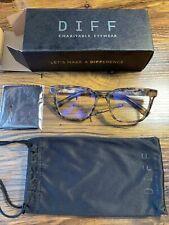 DIFF Finn Charitable Eyewear Tortoise Shell Blue Light Blockers NEW