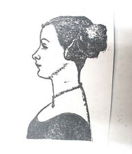 Young woman rubber stamp History profile art stamps unmounted die collage people