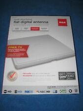 RCA ANT1400F Multi-Directional Digital Flat HDTV Indoor Antenna, White, New!