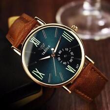 Luxury Leather Mens Quartz Analog Noctilucent Watch In Velvet Gift Bag