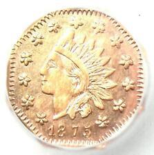 1875 Indian California Gold Dollar Coin G$1 BG-1112 R5 - ICG MS60 Details (UNC)