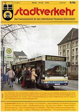 STADTVERKEHR 9/94 Oslo Erfurt Kassel Leipzig Hannover - Tramway, métro, autobus