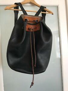 Saddleback bucket backpack leather excellent condition shoulder straps included