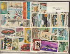 200 verschiedene Briefmarken Verkehr , Eisenbahn , Schiffe , Autos , Luftfahrt