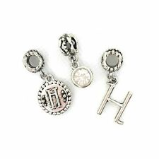 """Letter """"H"""" Charm  3 Piece Initial Set 