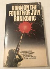 Vintage PB Book Born On The 4th Of July Fourth Ron Kovic 1977 1st Pocket Book Pr