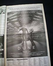 Best DUNE Cult Film Movie Opening Day AD & Review 1984 Los Angeles CA Newspaper