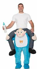 Ride On A Blue Baby Boy Halloween Costume Adult Funny Carry Me Your Shoulders