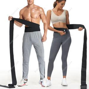 Snatch Me Up Bandage Body Shaper Wrap Lumbar Waist Support Belt Trimmer Black UK