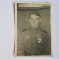 Russian Soviet Soldier Gunner Military  Badges  1951   Old photo USSR
